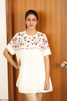 Lavanya Tripathi in Summer Style Spicy Short White Dress at her Interview  Exclusive 188.JPG