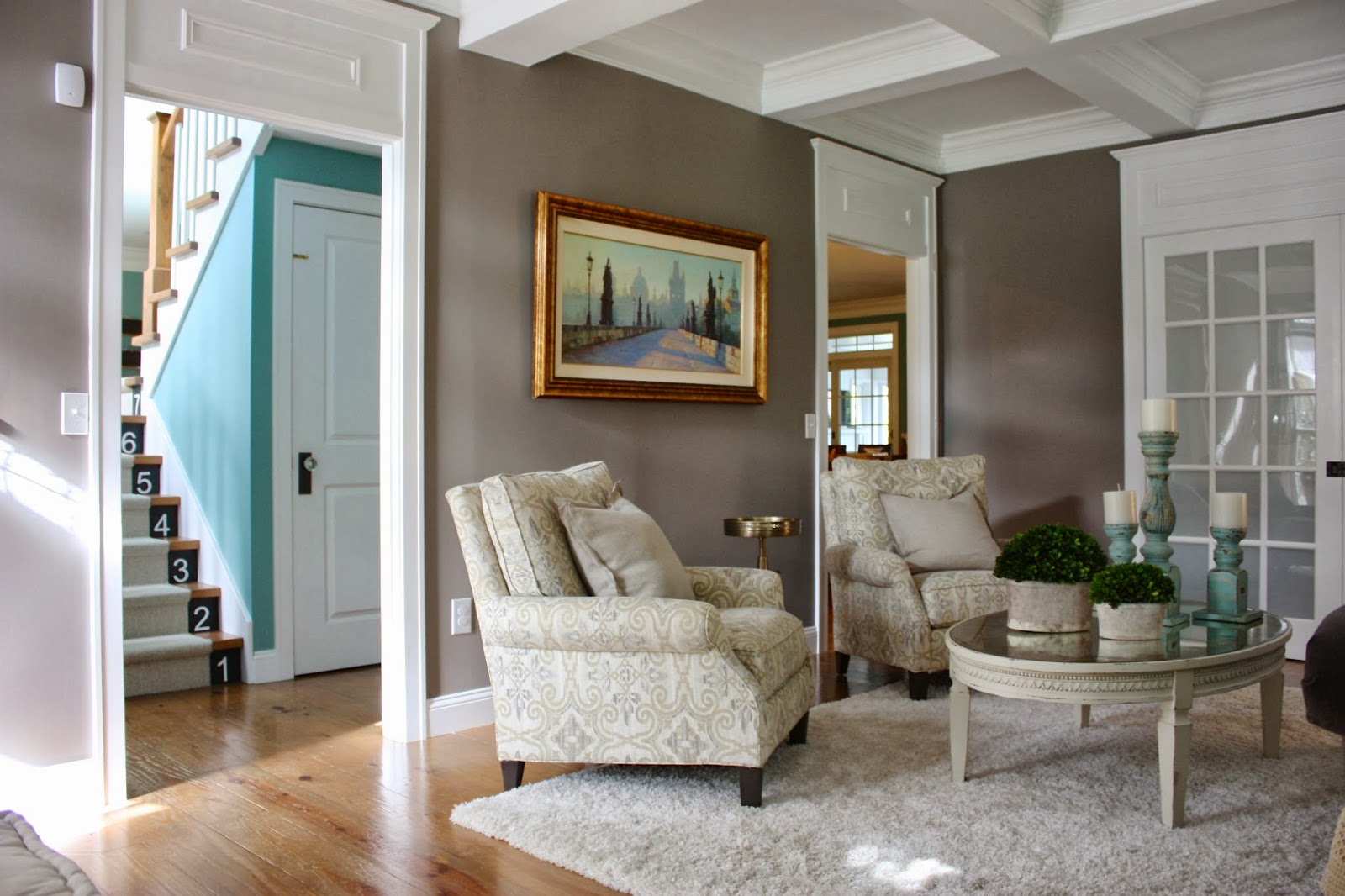 The yellow cape cod before after living room makeover a - Accent colors for gray living room ...