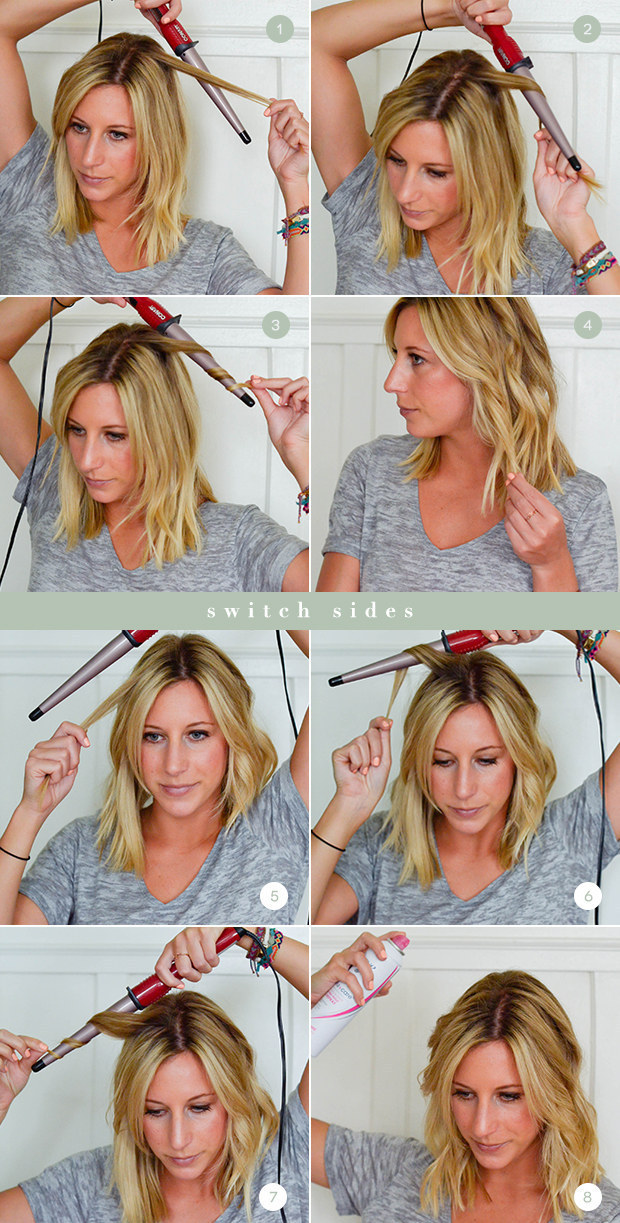 To Start curling the roots on the larger end of the wand