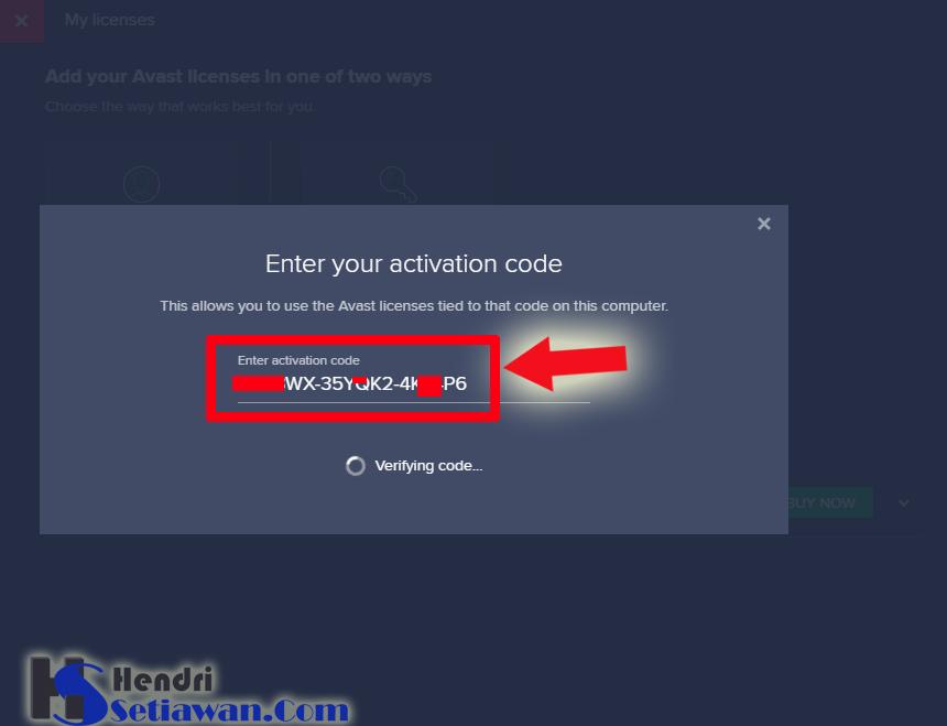 Aktifasi Online Avast Premier Pro Dengan Kode Aktifasi Activation Code Hendri Setiawan