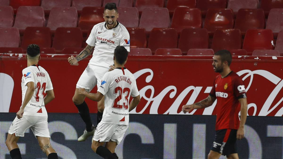 Sevilla, con gol de Lucas Ocampos, le ganó a Mallorca que se complica en el descenso
