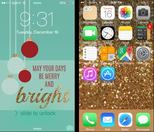 Christmas Glitter IPhone Wallpaper