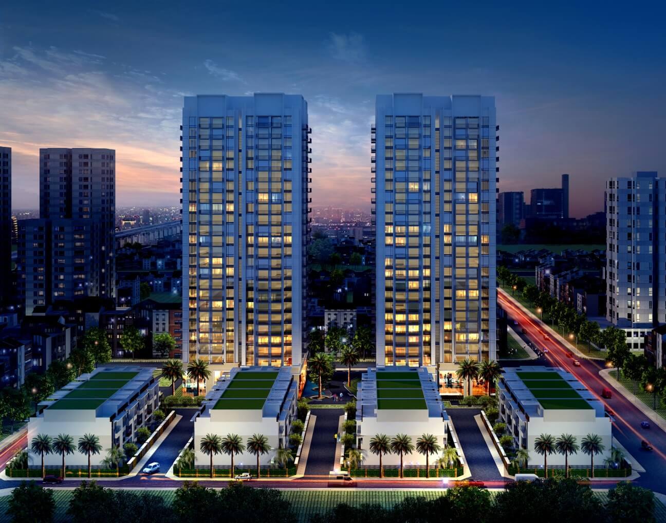 Cảnh đẹp ngoài dự án chung cư Thống Nhất Complex Nguyễn Tuân