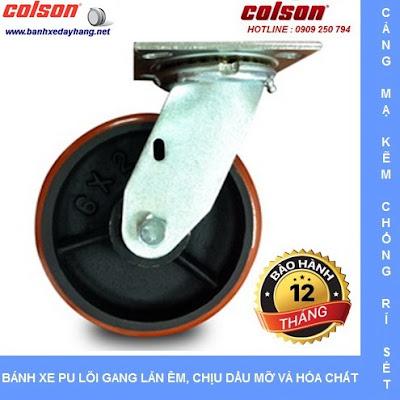 Bánh xe pu chịu lực lõi gang SP Caster Colson tại An Giang www.banhxedaycolson.com