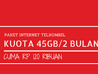 Paket Internet Telkomsel 45GB/60 Hari Hanya 120 ribu, Mau?