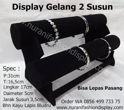 display gelang 2 susun