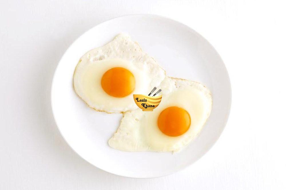 हाफ फ्राई अंडा बनाने की विधि - Half Fry Egg Recipe in Hindi