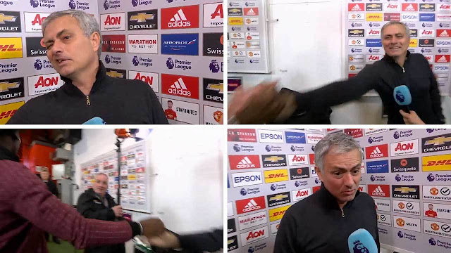 EPL: Jose Mourinho, Paul Pogba 'disrespected' me by interrupting my live TV interview after win over Liverpool