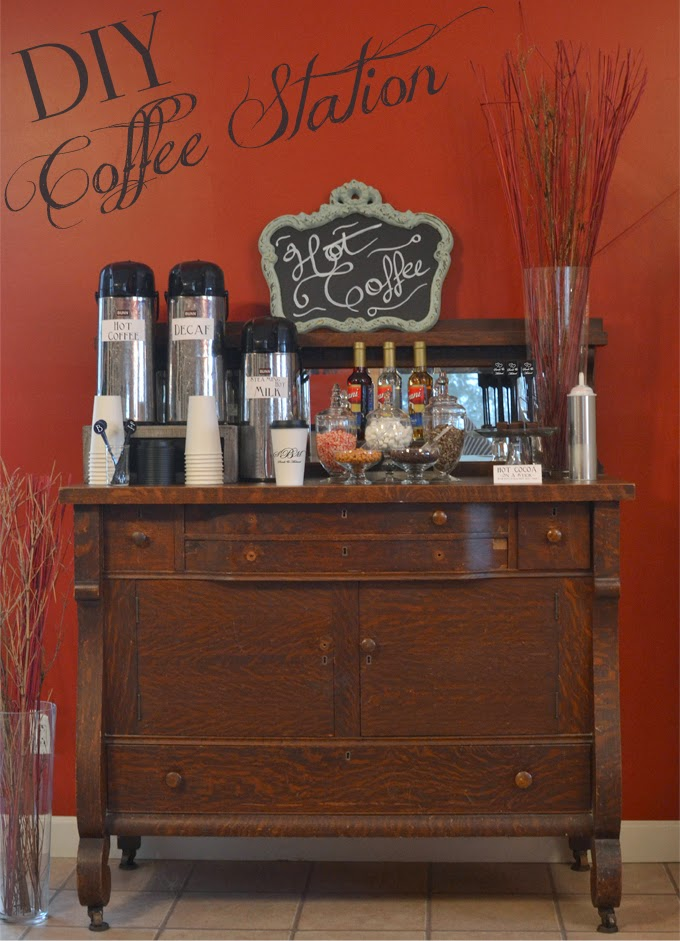 DIY Wedding Reception Coffee Station