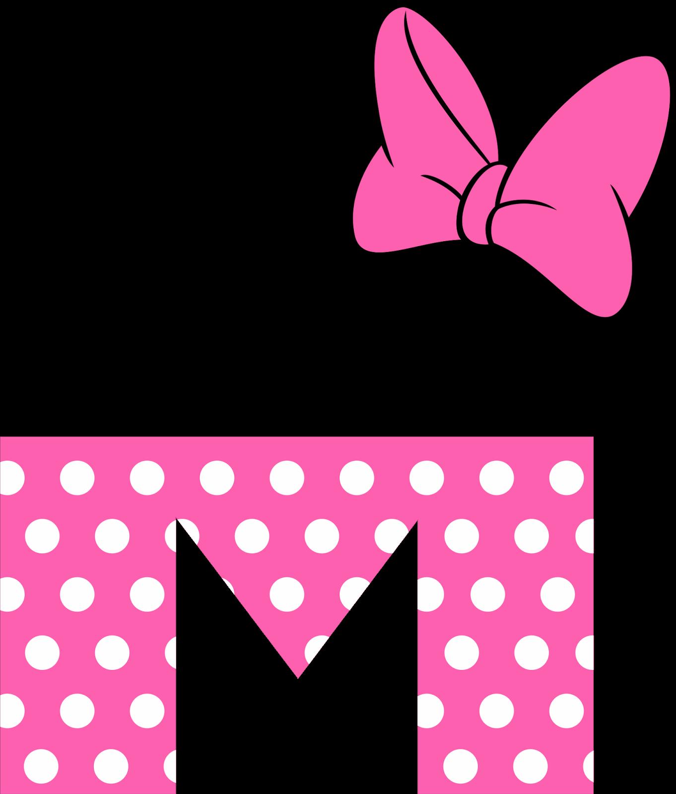 Precioso Alfabeto Tipo Minnie Rosa Com Imagens