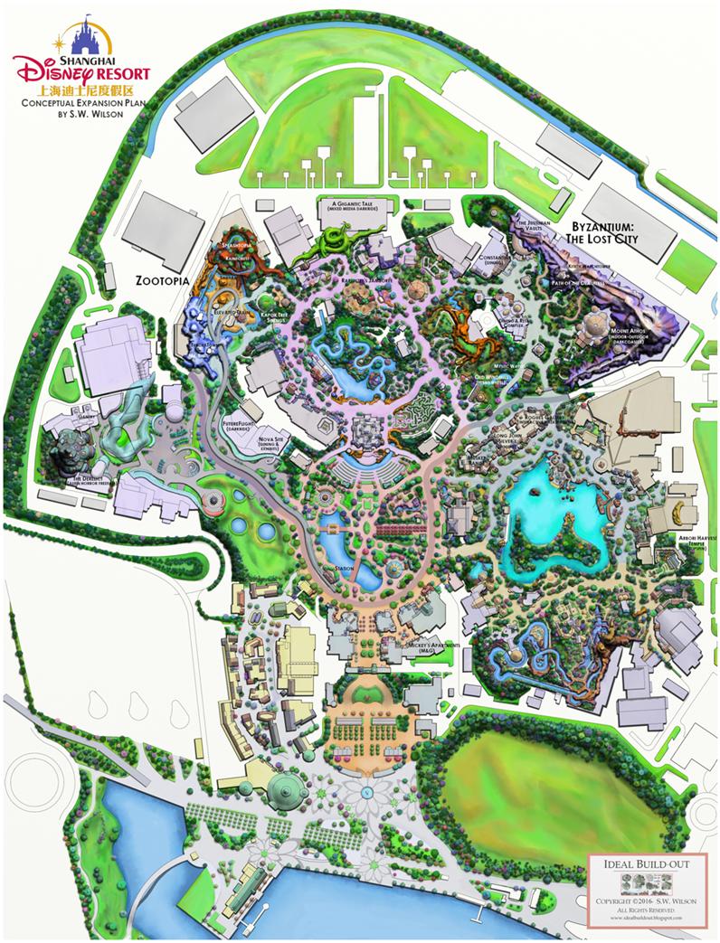 Ideal Buildout - Disneyland brazil map