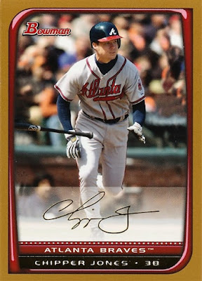 2008 Bowman Gold Chipper Jones