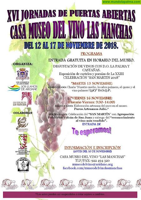 La Casa Museo del Vino de Las Manchas celebra la XVI edición de sus tradicionales Jornadas de Puertas Abiertas