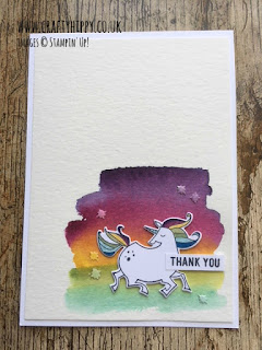 Create a darker watercolour wash on your Magical Day Unicorn Card using more ink.