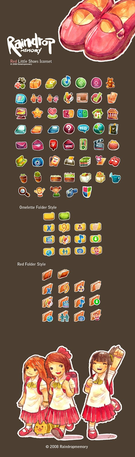 I love Kawaii: Rilakkuma Desktop Wallpaper With Cute Icons