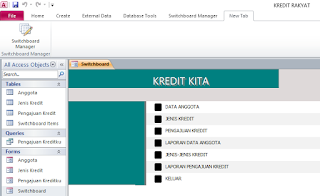 aplikasi access database kredit