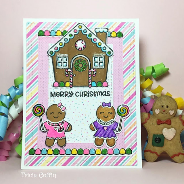 Sunny Studio Stamps: Jolly Gingerbread Customer Card Share by Tricia Coffin