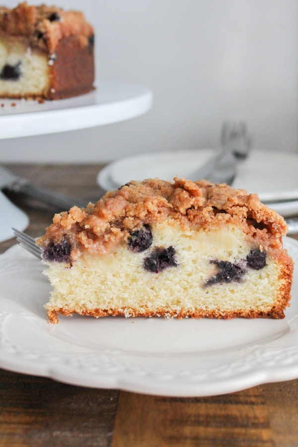 Blueberry Peach Coffee Cake | The Chef Next Door #SundaySupper