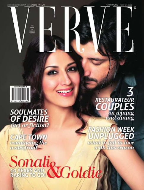 Sonali Bendre & Goldie on the cover page of Verve