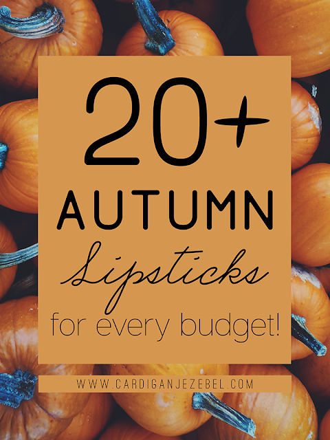 +20 Autumn Lipsticks For Every Budget!