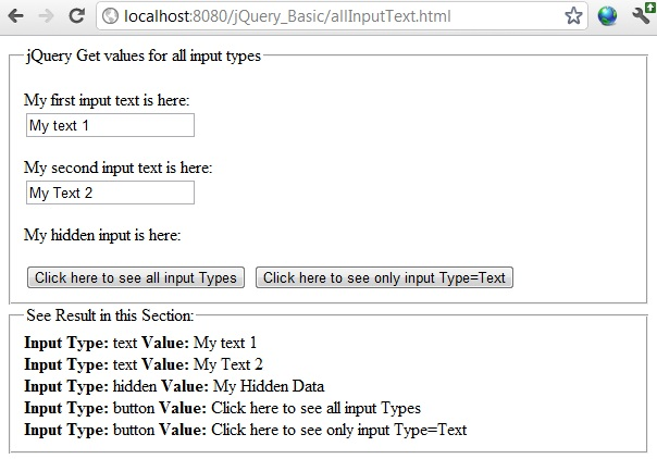 get all input elements in form jquery