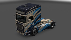 Black Knight Skin for Scania RJL