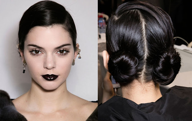 black lips for fall, dark lips for spring, beauty trends, kendall jenner, no makeup and dark lips