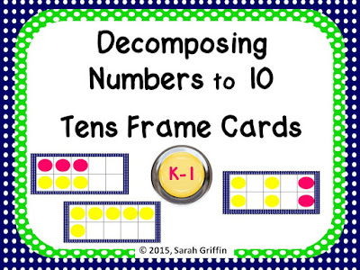 https://www.teacherspayteachers.com/Product/Decomposing-Numbers-to-10-Tens-Frame-Dot-Cards-Polka-Dots-809658