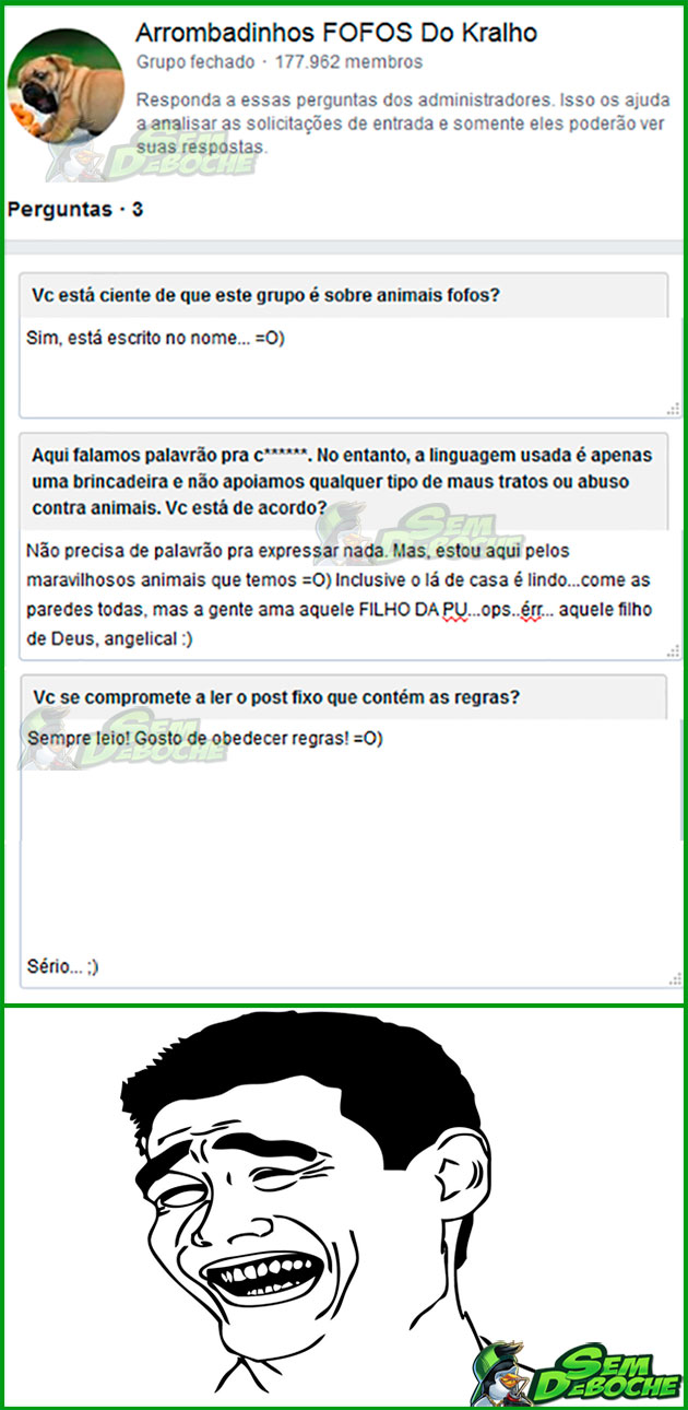 COMO RESPONDER DE FORMA ÉPICA AS PERGUNTAS PRA ENTRAR EM UM GRUPO DO FACEBOOK