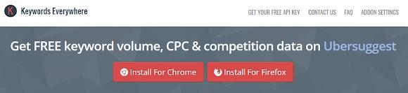 Install plugin riset kata kunci pada browser anda