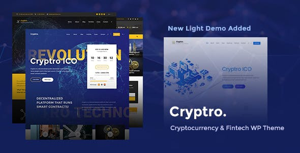 Cryptro v1.3.2 - Cryptocurrency, Blockchain, Bitcoin