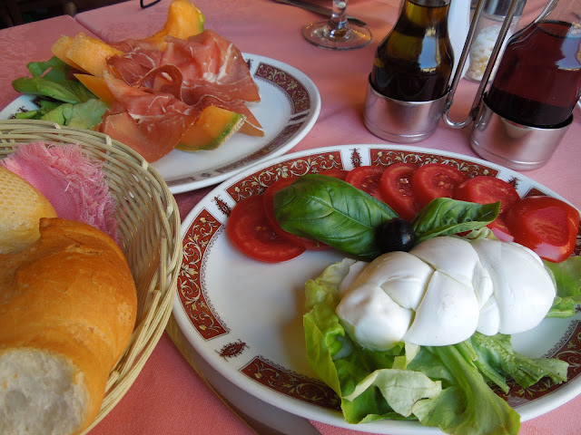 a meal in Florence