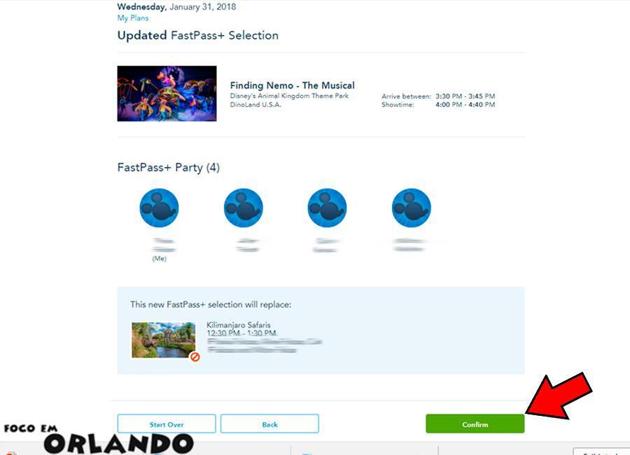 Agendar seu FastPass+ da Disney World