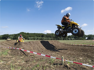 Quad Bike Jumping Over a hump