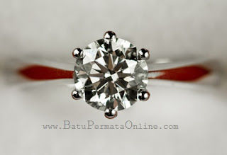Cincin Batu Permata / Berlian Desain Solitaire