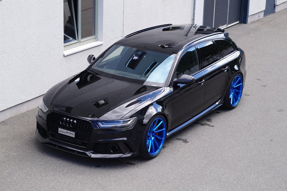 Cartech Audi Rs6 Mit Blauen 21 Zoll Vossen Wheels Hot Or