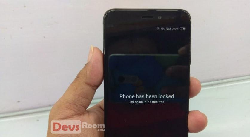 Mengatasi Lupa Pola Xiaomi Redmi Note 4