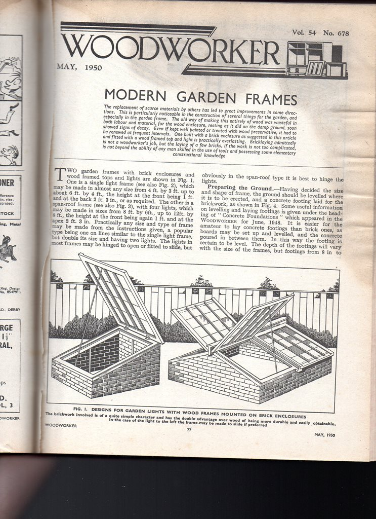 An English Homestead: Cold Frame Plans - The Woodworker