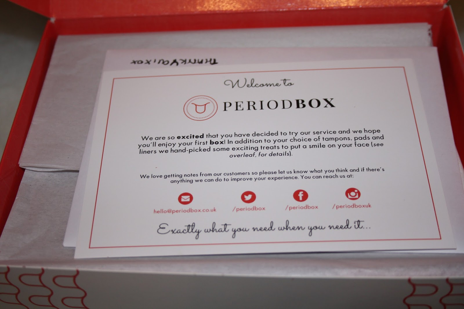 Period Box Contents