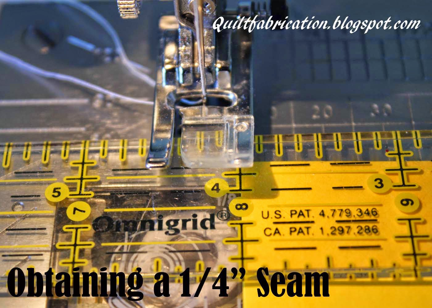 checking quarter inch seam sewing