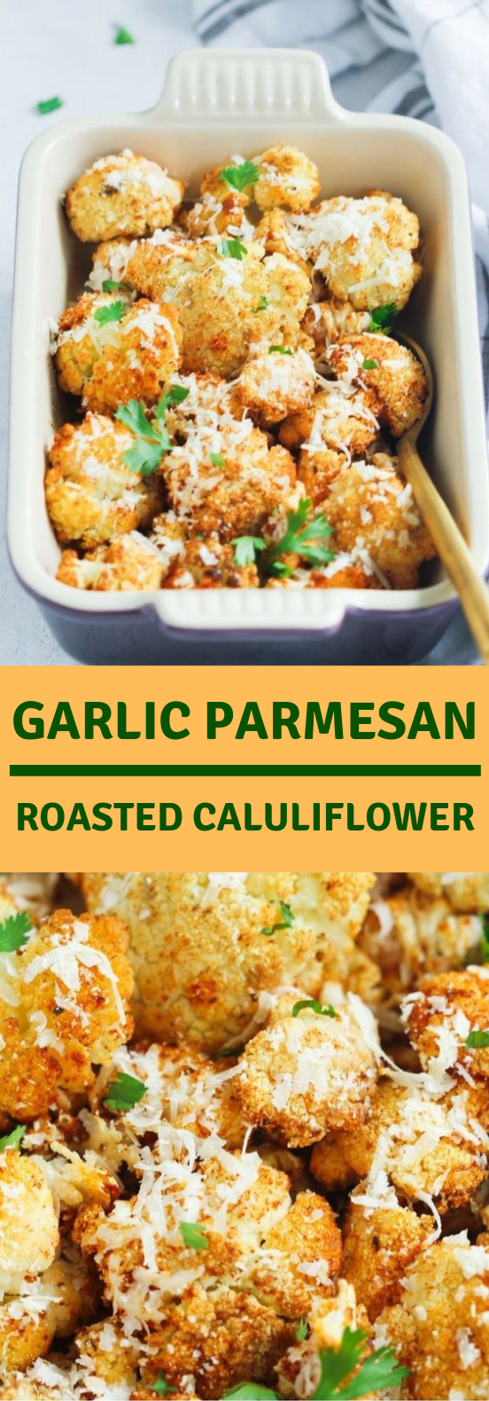 Garlic Parmesan Roasted Cauliflower #Vegetarian #Cauliflower