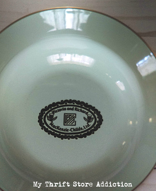 estate sale MacKenzie-Childs enamel bowls