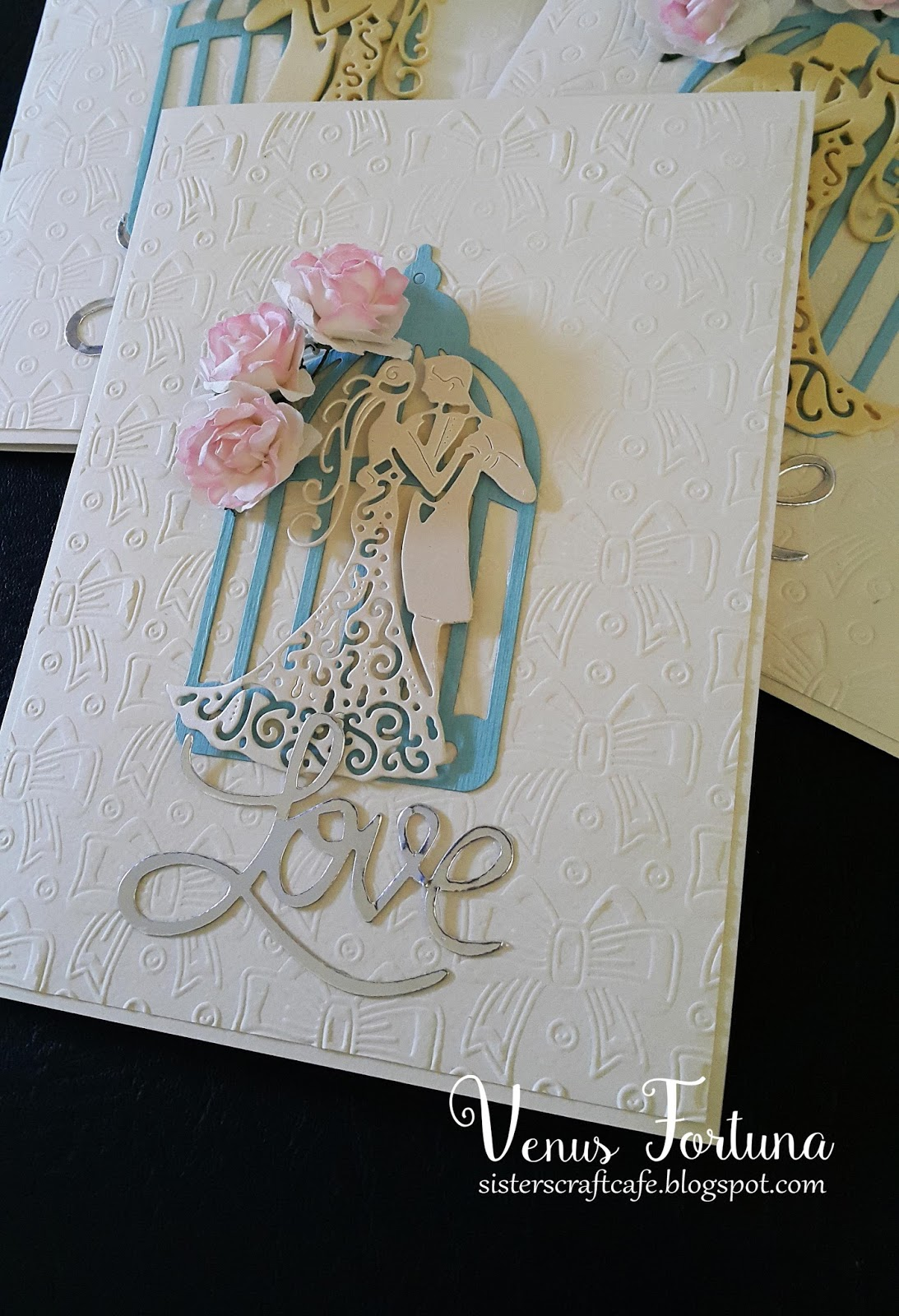 Handmade wedding cards easy project Sisters Craft Caf