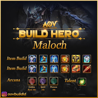 Item build, Arcana, Talent untuk Maloch