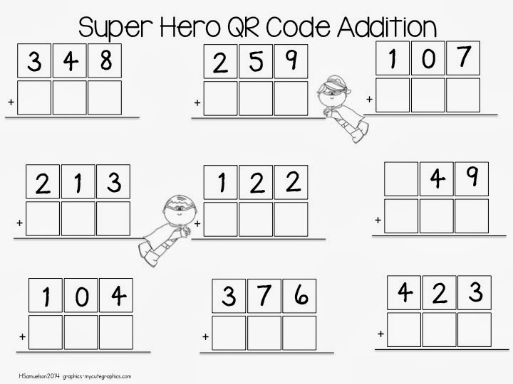 Mrs. Samuelson's Swamp Frogs: QR Code Super Hero Addition