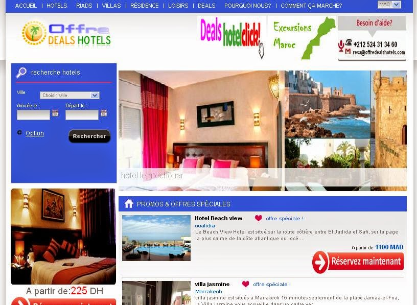 home picture_OffreDealsHotels.com : New Web Project Timilar to booking.com
