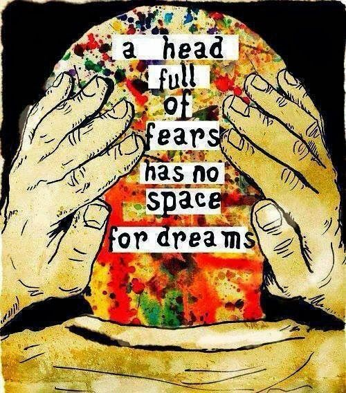 "Quote of the week | #2 | ""A head full of fears has no space for dreams"" Love, Maisie"