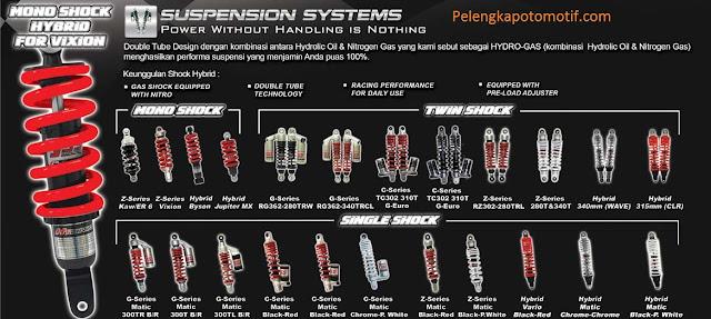 Daftar Harga Shock Breaker YSS Terbaru Untuk Semua Motor