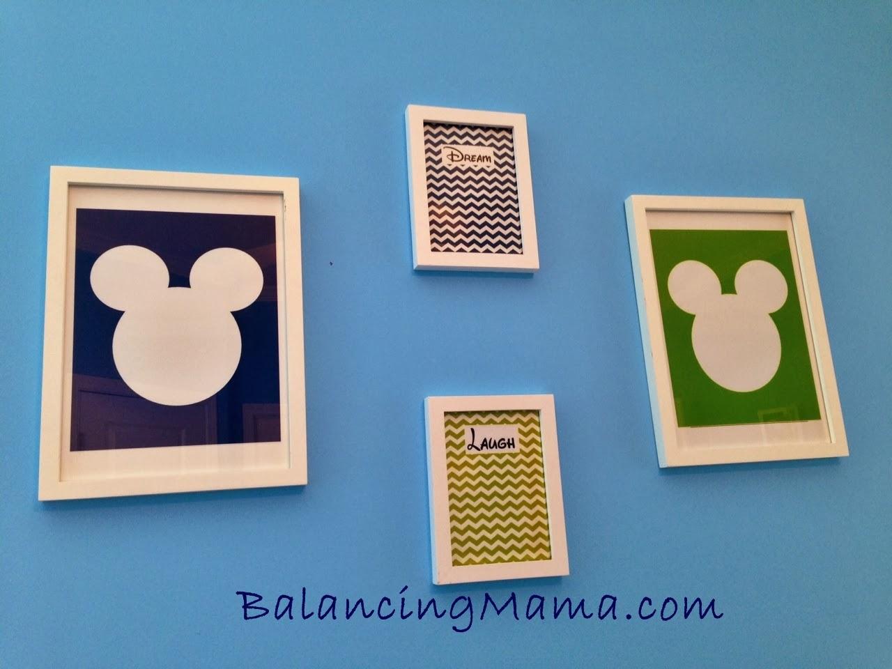 From Balancingmama Mickey Mouse Inspired Baby Nursery