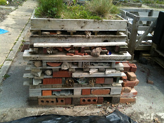 bug hotel, allotment, gardening, life on pig row